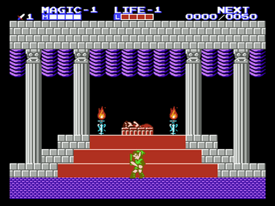 Super Nintendo SNES Screenshot The Legend of Zelda 2: The Adventure of Link