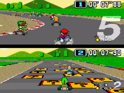 Super Nintendo SNES Screenshot Super Mario Kart