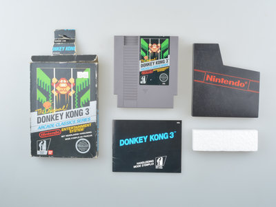 Donkey Kong 3 Arcade Classics 5-Screw Hangtab Black Box