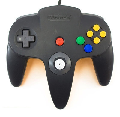 Nintendo 64 [N64] Controller Black (New Thumbstick)
