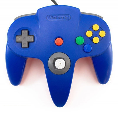 Nintendo 64 [N64] Controller Blue (New Thumbstick)
