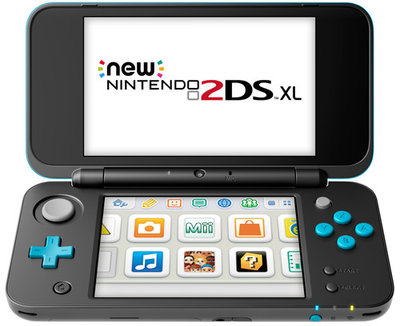 New Nintendo 2DS XL Black Turquoise Edition