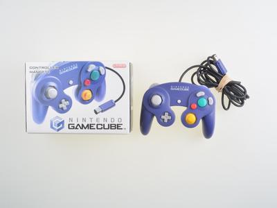 Originele Nintendo Gamecube [NGC] Controller Purple Transparant [Complete]