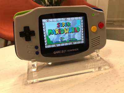 Gameboy Advance Limited SNES Edition + AGS 101 Backlight + Super Mario World