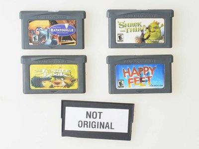 Happy Feet | Ratatouille | Shrek the Third | Jungle Book - Gameboy Advance - Outlet