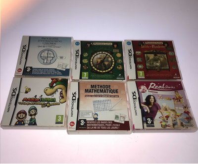 6 in 1 French Nintendo DS games