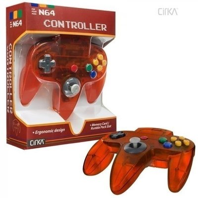 New Nintendo 64 [N64] Controller Fire Orange