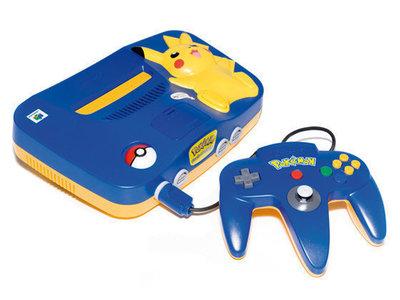 Nintendo 64 [N64] Console Pikachu + Controller