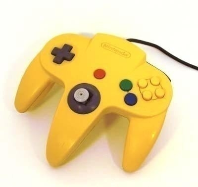 Nintendo 64 [N64] Controller Yellow (New Thumbstick)