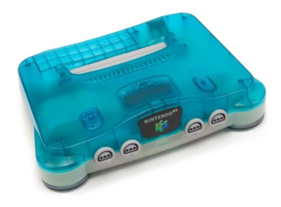 Nintendo 64 [N64] Console Aqua Blue Premium