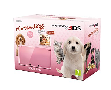 Nintendo 3DS Coral Pink Nintendögs + Cats Edition [Complete]
