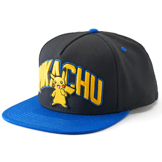 Pokemon - Pikachu Pet Snapback Edition Black & Blue