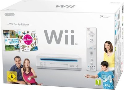 Wii Family Edition Console + Wii Sports + Wii Play