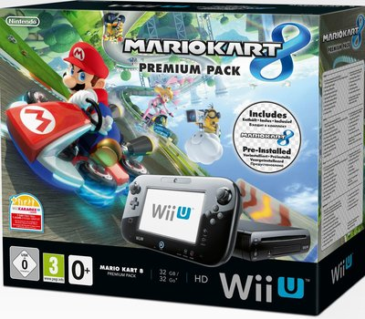 Wii U 32GB Console Premium Bundel Zwart + Mario Kart 8