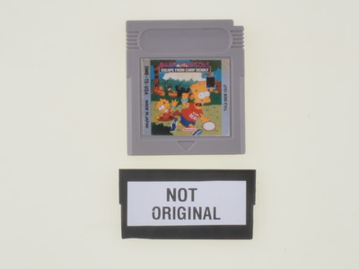 Bart Simpson's Escape from Camp Deadly - Gameboy Classic - Outlet