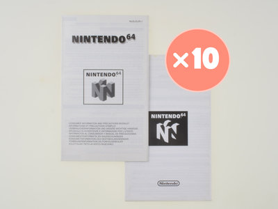 Consumer Information Booklet - Nintendo 64 - 10x