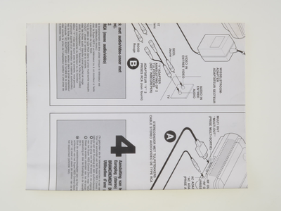 Super Nintendo Console Connection Instructions Map
