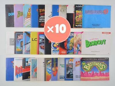 Mystery Manual Mix - Nintendo NES - 10x