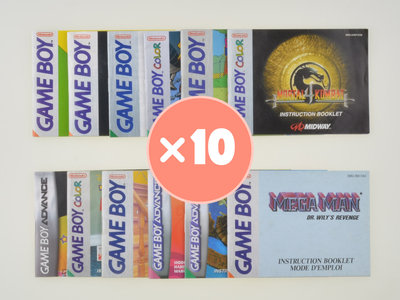 Mystery Manual Mix - Gameboy - 10x