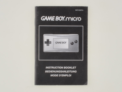 Gameboy Micro Console Manual
