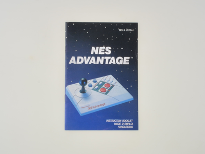 Nintendo NES Advantage Manual