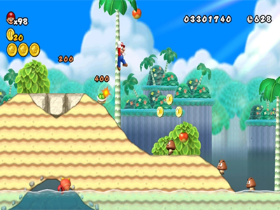 Nintendo Wii Screenshot New Super Mario Bros Wii