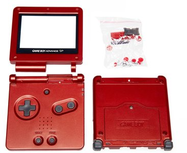 Game Boy Advance SP Shell Red