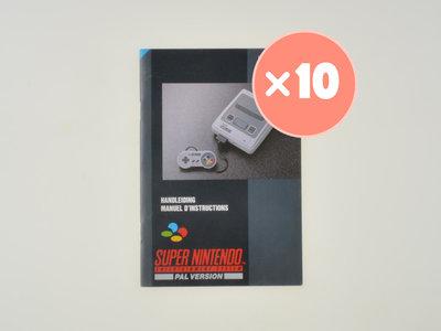 10x Super Nintendo Console Manual